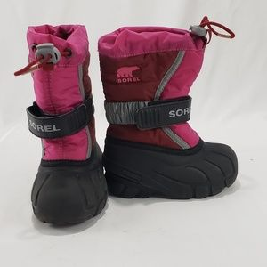 Sorel Toddler Pink/Black Fury TP Winter Snow Boots